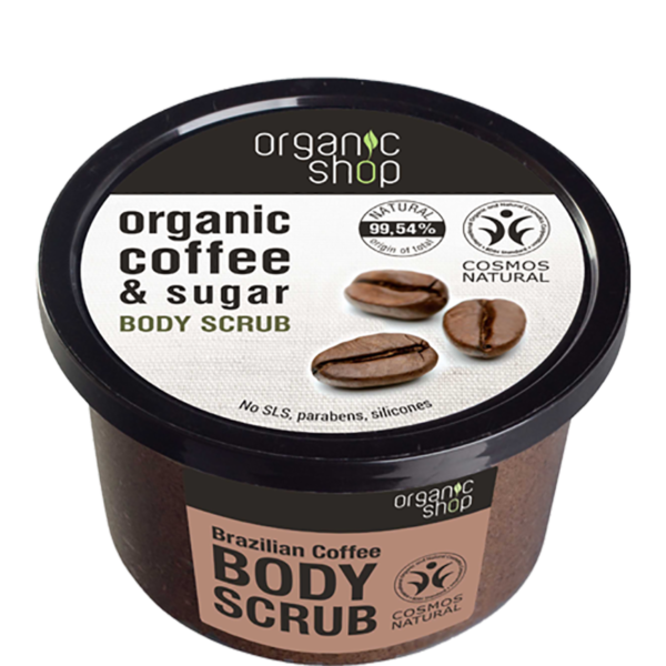 Organic Shop Body Scrub Brazilian Coffee 22605 PNG 1024x1024Yellow Mood